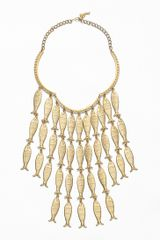 Tory Burch Fish Necklace - Lyst