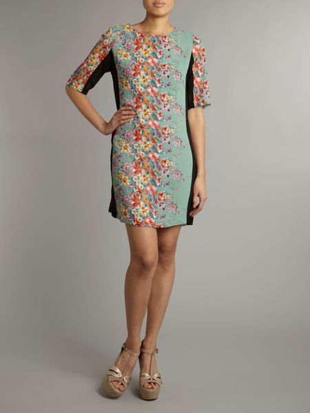 True Decadence Daisy Tunic Dress In Blue Mint Lyst