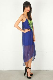Twelfth Street by Cynthia Vincent Twelfth St By Cynthia Vincent Embroidered Cascade Dress in Pool Blue - Lyst
