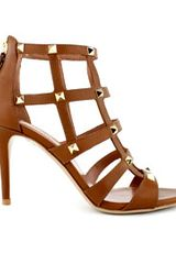 Valentino Cognac Caged Studded Sandal in Brown (cognac) - Lyst