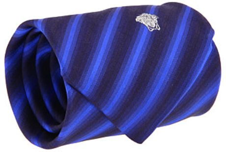 Versace Bold stripe pattern tie in Blue (b) - Lyst