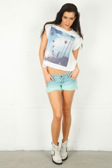 Wildfox Wildfox I Love Los Angeles Rip Back T - Lyst