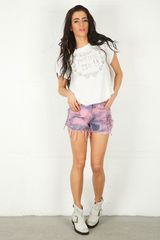 Wildfox Wildfox Love Potion Crest Rip Back T in White - Lyst