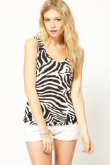 Asos Collection Asos Vest in Zebra Print in Black (multi) - Lyst