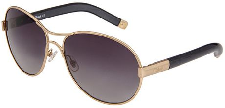 Chloé Sunglasses in Gold (g) - Lyst