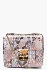 Chloé Python Skin Elsie Evening Bag - Lyst