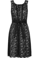 Dkny Stretchlace Dress in Black - Lyst