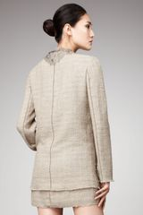Dolce & Gabbana Lace-detailed Tweed Jacket - Lyst