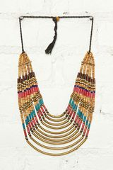 Free People Vintage Stone Metal Necklace - Lyst