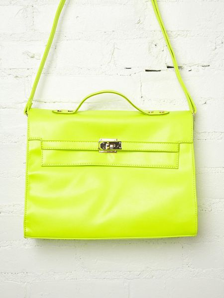 Free People Neon Nights Satchel in Yellow - Lyst