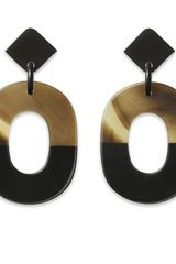 Hermes Lacquer Horn Jewellery Hermès Earrings - Lyst