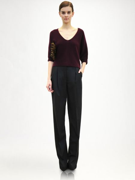 Jil Sander Wool Trousers in Black (grey) - Lyst