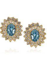 Kenneth Jay Lane 22karat Goldplated Swarovski Crystal Earrings