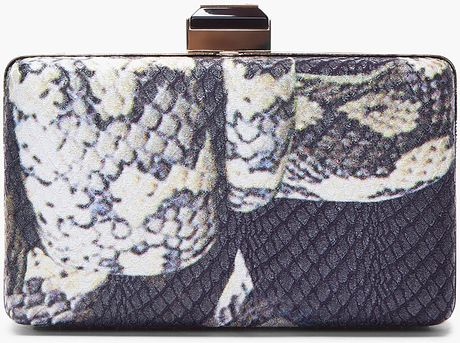 Lanvin Hard Case Minaudiere Clutch in Gray (black) - Lyst