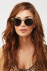 Nasty Gal Metal Head Shades in Gold (black) - Lyst