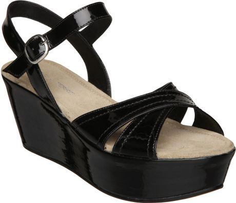 Pied A Terre Lesia Flatform Wedge Sandals in Black - Lyst