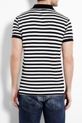 Polo Ralph Lauren Black and White Stripe Polo Shirt in Black for Men - Lyst