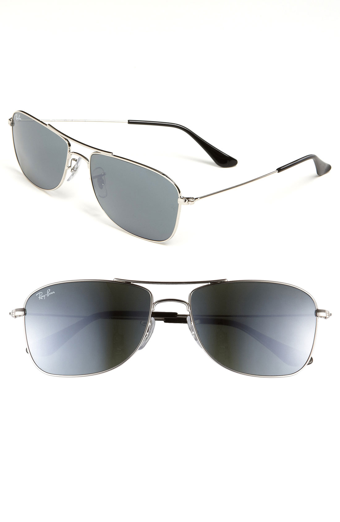 Mirrored ray ban aviator louisiana bucket brigade for Mirror sunglasses