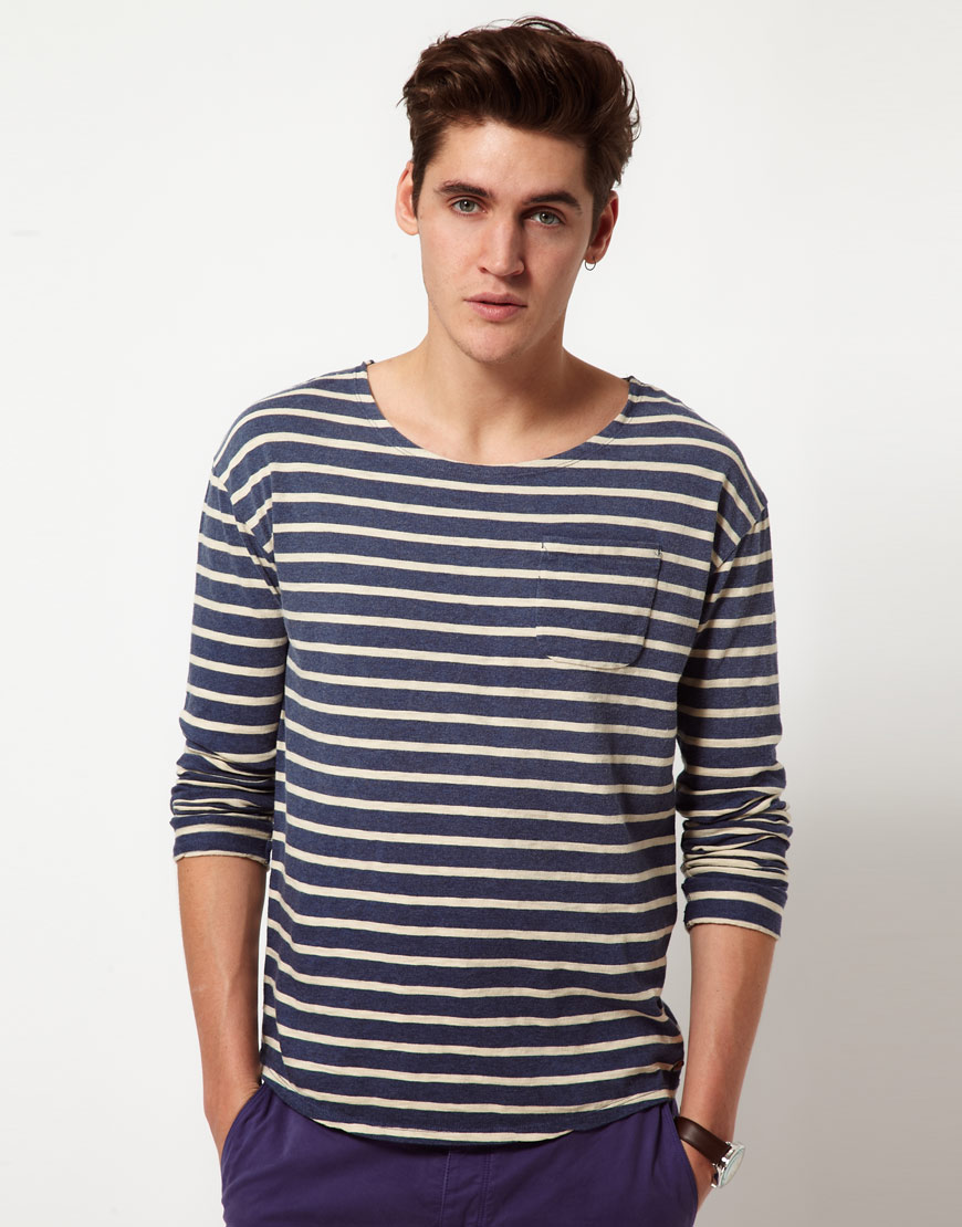 scotch soda scotch soda breton stripe long sleeve tshirt. Black Bedroom Furniture Sets. Home Design Ideas