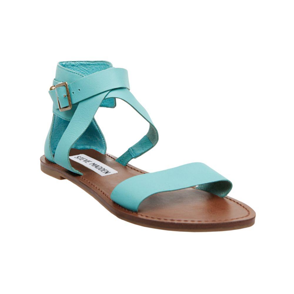 Steve Madden Bethanyy Flat Sandals In Blue Lyst