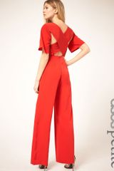 Asos Asos Petite Exclusive Jumpsuit with Cross Back Detail - Lyst