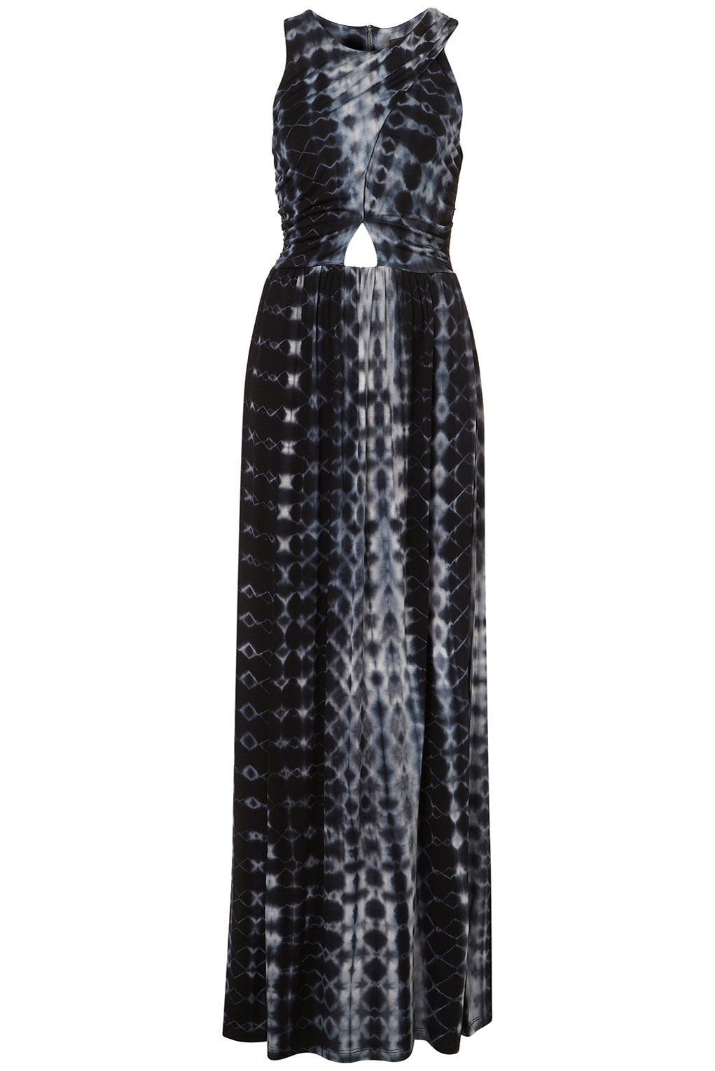 Topshop Tie Dye Maxi Dress In Black Lyst