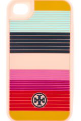 Tory Burch Striped Silicone Iphone 4 Case - Lyst