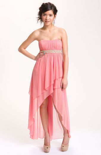 Way-in Layered Chiffon Gown - Lyst