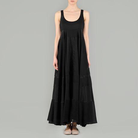 Cotton black maxi dresses rare photo