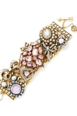 Betsey Johnson Heart Toggle Bracelet - Lyst