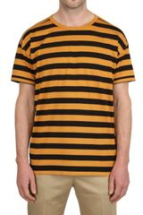 Burberry Prorsum Striped Cotton Jersey Tshirt - Lyst