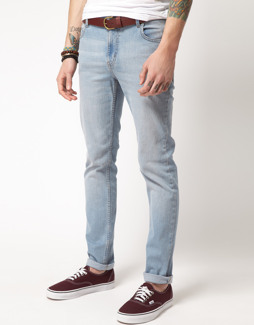Cheap monday Tight Skinny Jeans in Blue for Men | Lyst