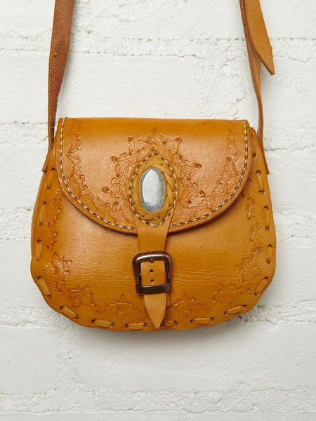 Free People Bolsita Stone Satchel in Brown (yellow) - Lyst