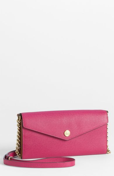 Michael By Michael Kors Colorblock Saffiano Crossbody Bag in Pink (lacquer pink multi) - Lyst