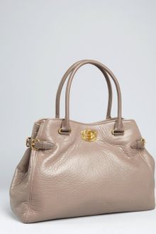 Miu Miu Clay Leather Buckle Detail Tote - Lyst