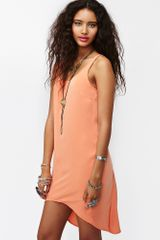 Nasty Gal Deep End Dress in Orange (brown) - Lyst