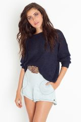 Nasty Gal Parisian Chambray Shorts - Lyst