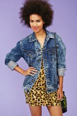 Nasty Gal Stone Wash Denim Jacket - Lyst