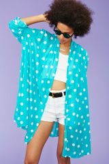 Nasty Gal Get Dotty Drape Jacket - Lyst