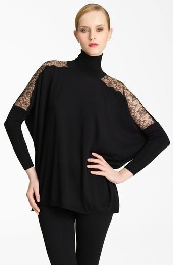 Valentino Lace Detail Turtleneck - Lyst