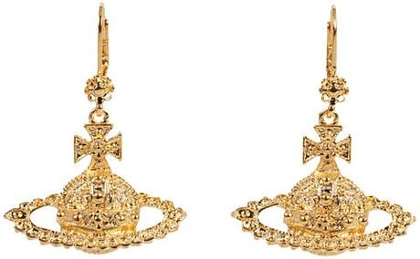 Vivienne Westwood Greek Gold Mini Bas Relief Earrings in Gold (g) - Lyst