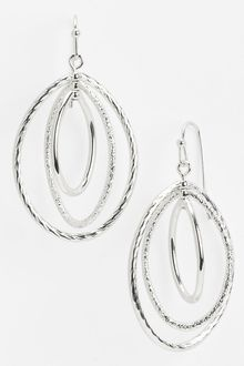 Ak Anne Klein Triple Orbital Drop Earrings - Lyst