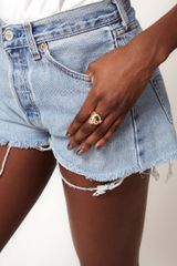 Asos Asos Skull Ring in Gold - Lyst