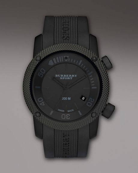Burberry Blackout Sport Watch in Black for Men - Lyst