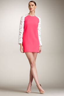 Christopher Kane Lace-sleeve Dress - Lyst