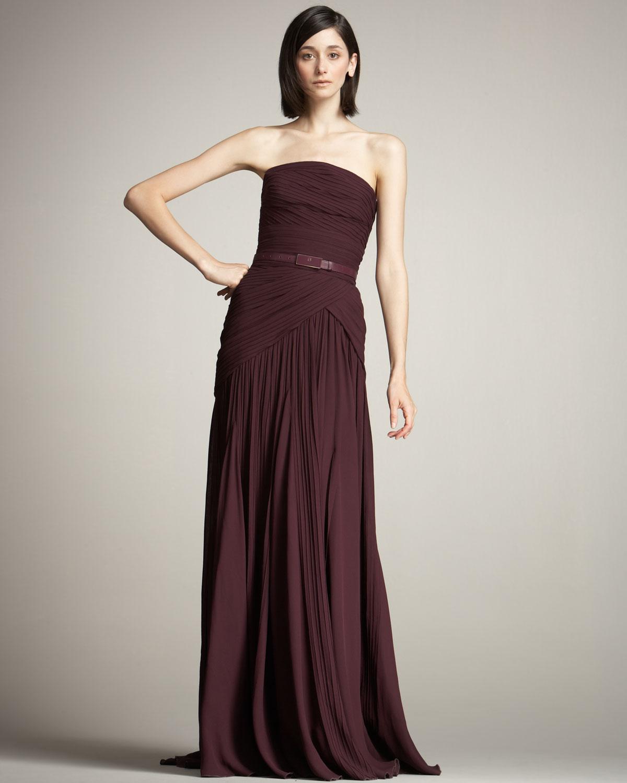 Plum Strapless Dress
