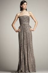 Elie Saab Beaded Strapless Gown - Lyst