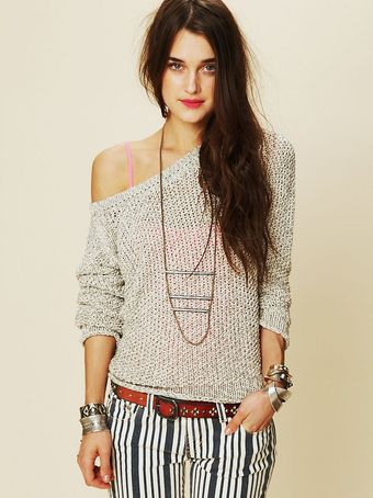 Free People Marl Yarn Pullover - Lyst