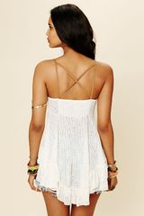 Free People Lace Panel Babydoll Top in White (ivory) - Lyst