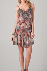 Haute Hippie Beaded Floral Flapper Dress - Lyst